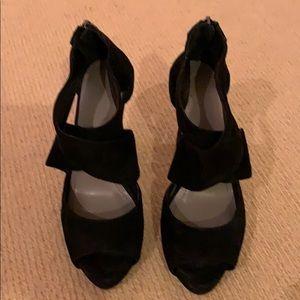 Vince Camuto Black Suede Strappy Sandal